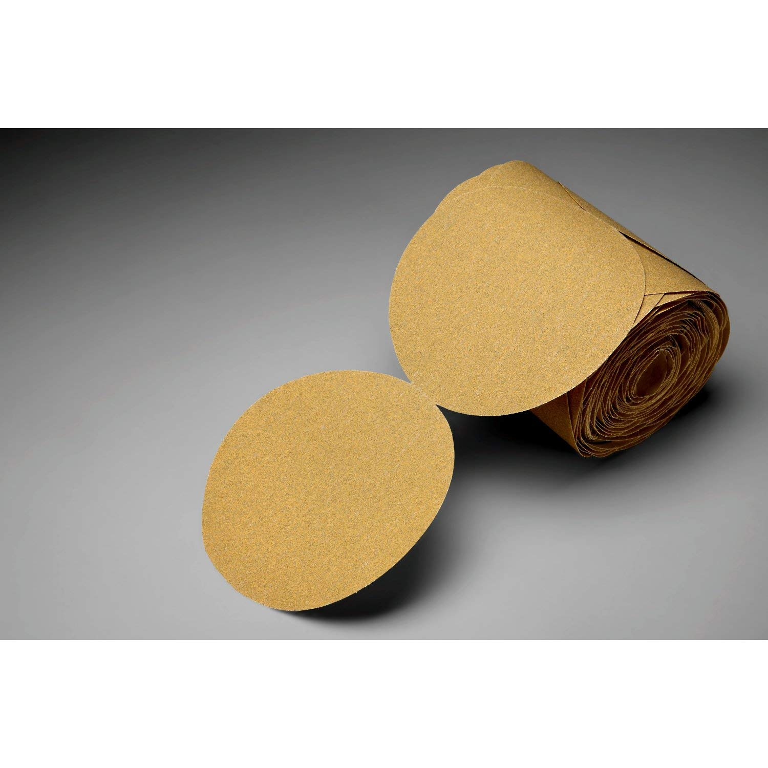 3M Stikit Gold Paper Disc Roll 216U, P180 A-weight, 6 in x NH, Die 600Z, 175 discs per roll
