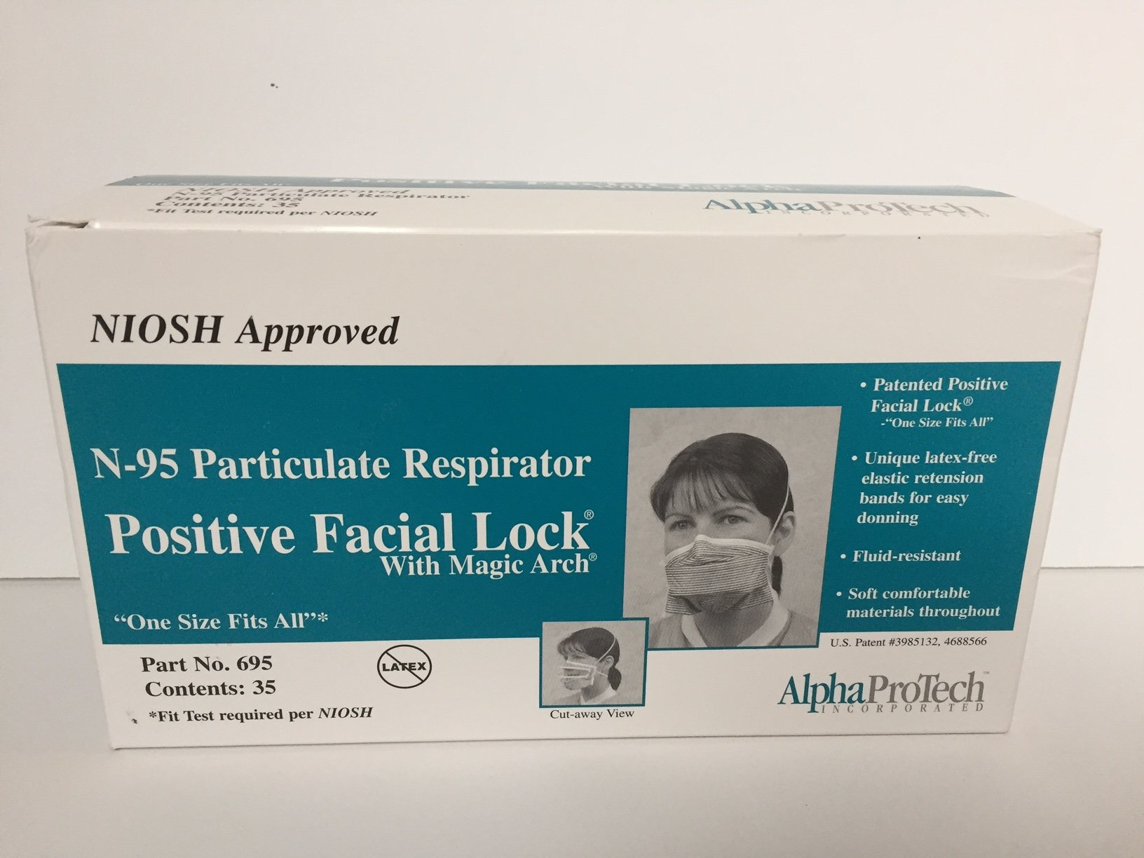 PFL (Positive Facial Lock?«) masks are fluid resistant and feature our exclusive Twist-Seal?« chin piece which allows a custom fit to any size face, reducing potential for small particles to be inhaled around the borders of the face mask. This unique de