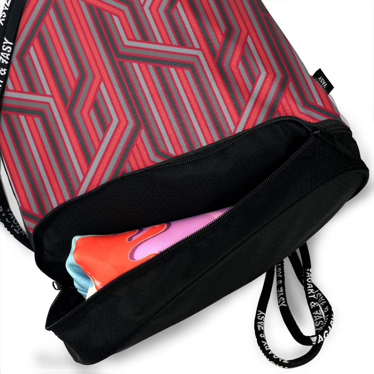 Manipulation Thames Night Drawstring Backpack Sports Athletic Gym Cinch Sack String Storage Bags for Hiking Travel Beach