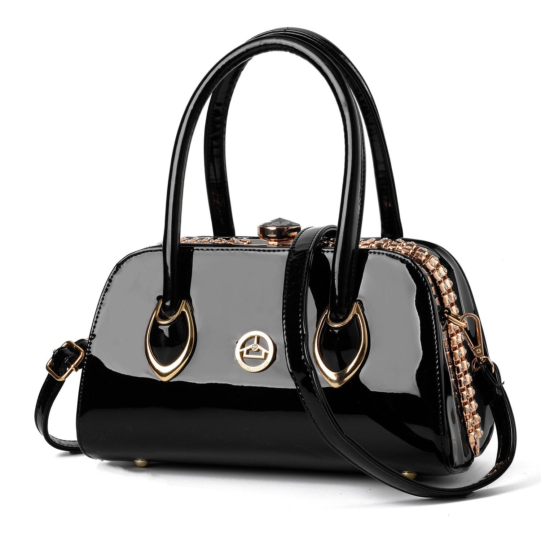 Nevenka Brand Fashion Women Bags Evening bags Shoulder Bag Totes Satchel Crossbody Handbags (BLACK)