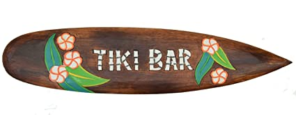 Tiki Bar Tabla de Surf 100 cm Hawaii Decoración colgar Maui kaui 40263 Surf