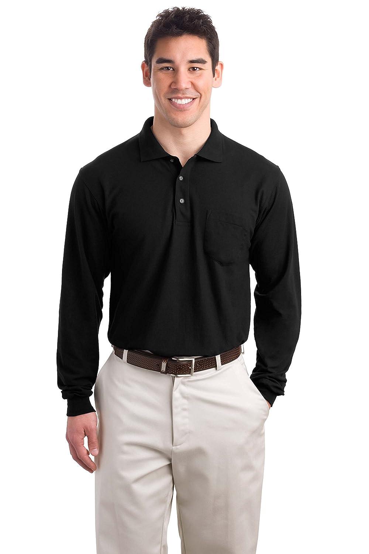 Port Authority Big Mens Silk Long Sleeve Sport Shirt with Pocket