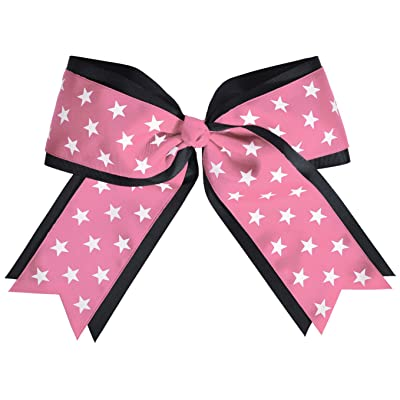 2 Color Jumbo Star Cheerleading Hair Bow