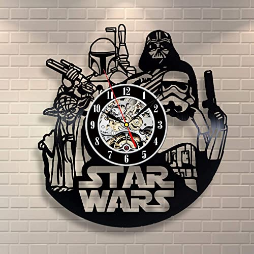 Home Crafts Star Wars Decor Vinyl Record Clock Star Wars Clock Modern Wall Clock Star Wars Art Stormtrooper Art Yoda Gift Darth Vader Costume