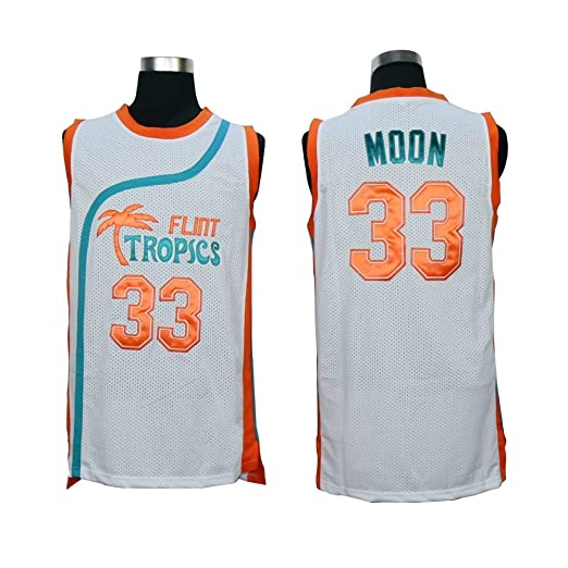 888b298f382f Amazon.com  Kooy Jackie Moon  33 Will Ferrell Flint Tropics Semi Pro Movie  Basketball Jersey  Sports   Outdoors