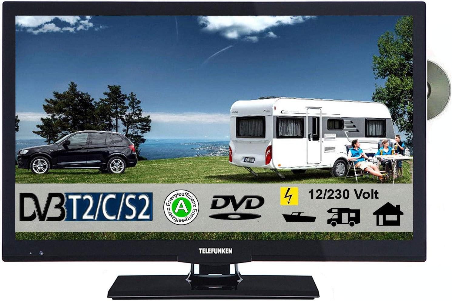 Telefunken T22 X 740 móvil LED TV 22 pulgadas DVB-T/S/S2/T2/C, DVD, USB, 12 V 230 V para caravana camping coche camión Truck y Casa: Amazon.es: Electrónica