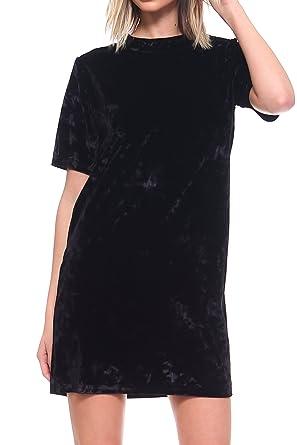 a29f801439dce ICONOFLASH Women's Crush Velvet T-Shirt Dress at Amazon Women's Clothing  store: