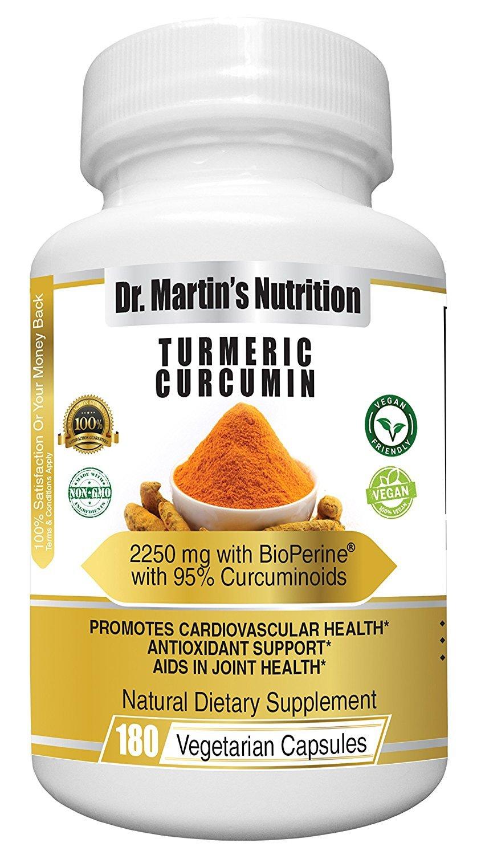 Amazon.com: 2250mg Turmeric Curcumin - 180 Veggie Capsules - Highest Potency Available With Bioperine ® & 95% Curcuminoid Formula - Natural Nutritional ...