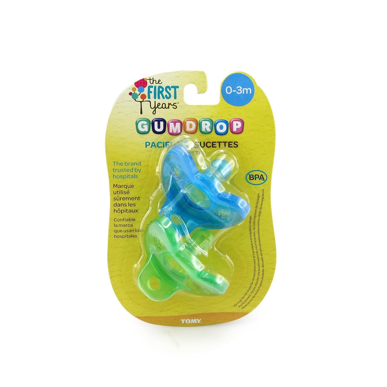 Los Primeros Años pastilla de goma Chupetes Recién Nacidos - Verde y azul - 0-3 meses. Importado de Reino Unido.