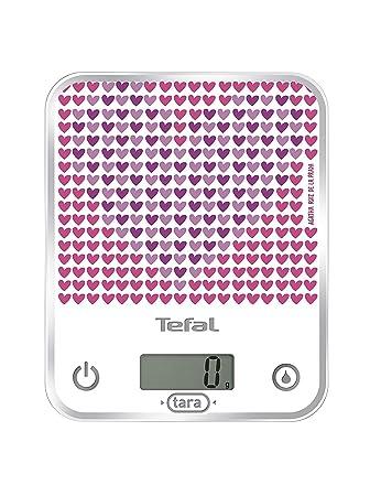 Tefal BC5017 Báscula electrónica de cocina Rosa, Color blanco - Báscula de cocina (Rosa, Blanco, Vidrio): Amazon.es: Hogar