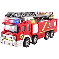 Fire Truck Toy Rescue with Shooting Water, Lights