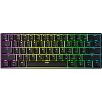Mizar MZ60 LUNA Hot Swappable Mechanische Gaming Toetsenbord - 61 toetsen Multi Color RGB LED Backlit voor PC/Mac Gamer…