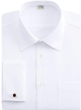 J.VER Hombres Doble Manguito Negocios Camisas de Vestir Formales ...