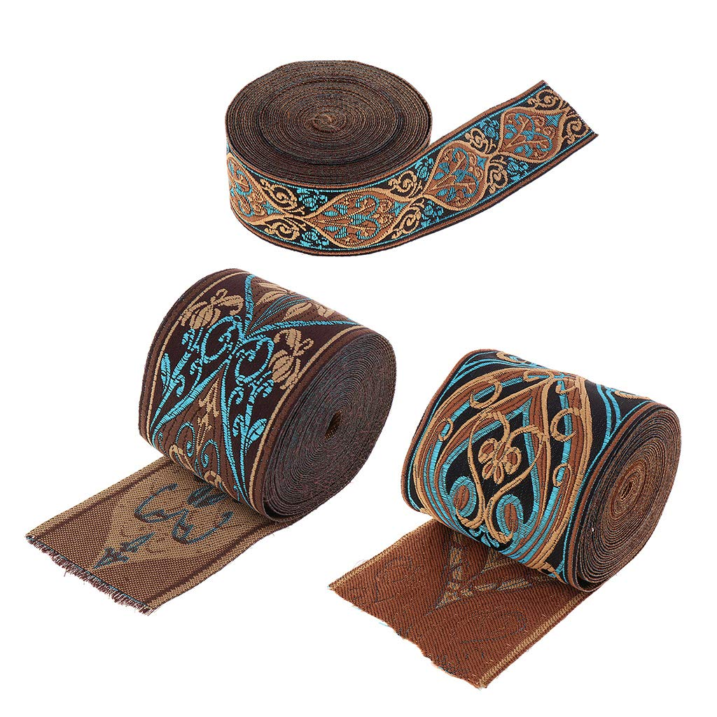 3cm 5 Meters Trimming Brocade Jacquard Ribbon Trim Craft Ribbon Blue Jacquard Border Trim Sewing Appliques