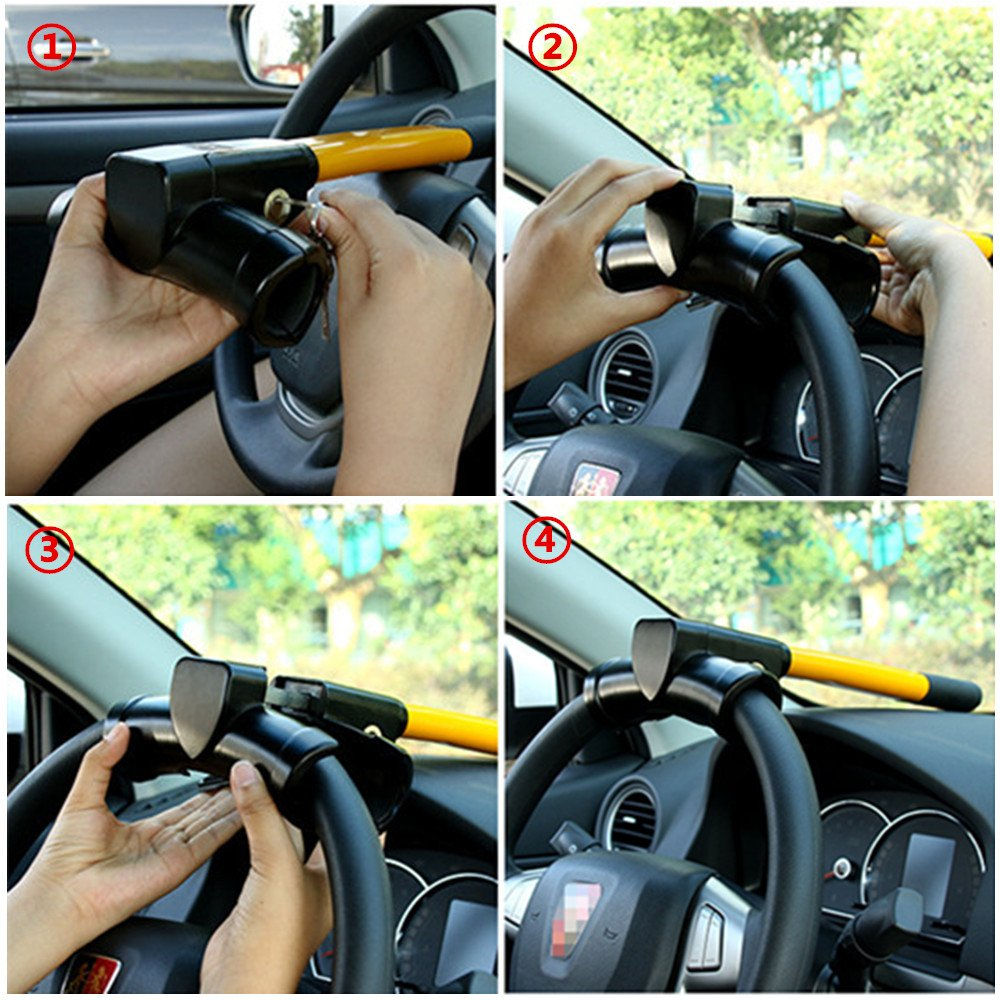 Antifurto Auto in acciaio inox 8 fori frizione Freno Protezione di sicurezza del veicolo Fornitura di blocco del freno auto