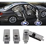 Car Door LED Light Logo HD Projector Welcome Ghost Shadow Low Consumption Shadow Lights for BMW Series (4 Pack)