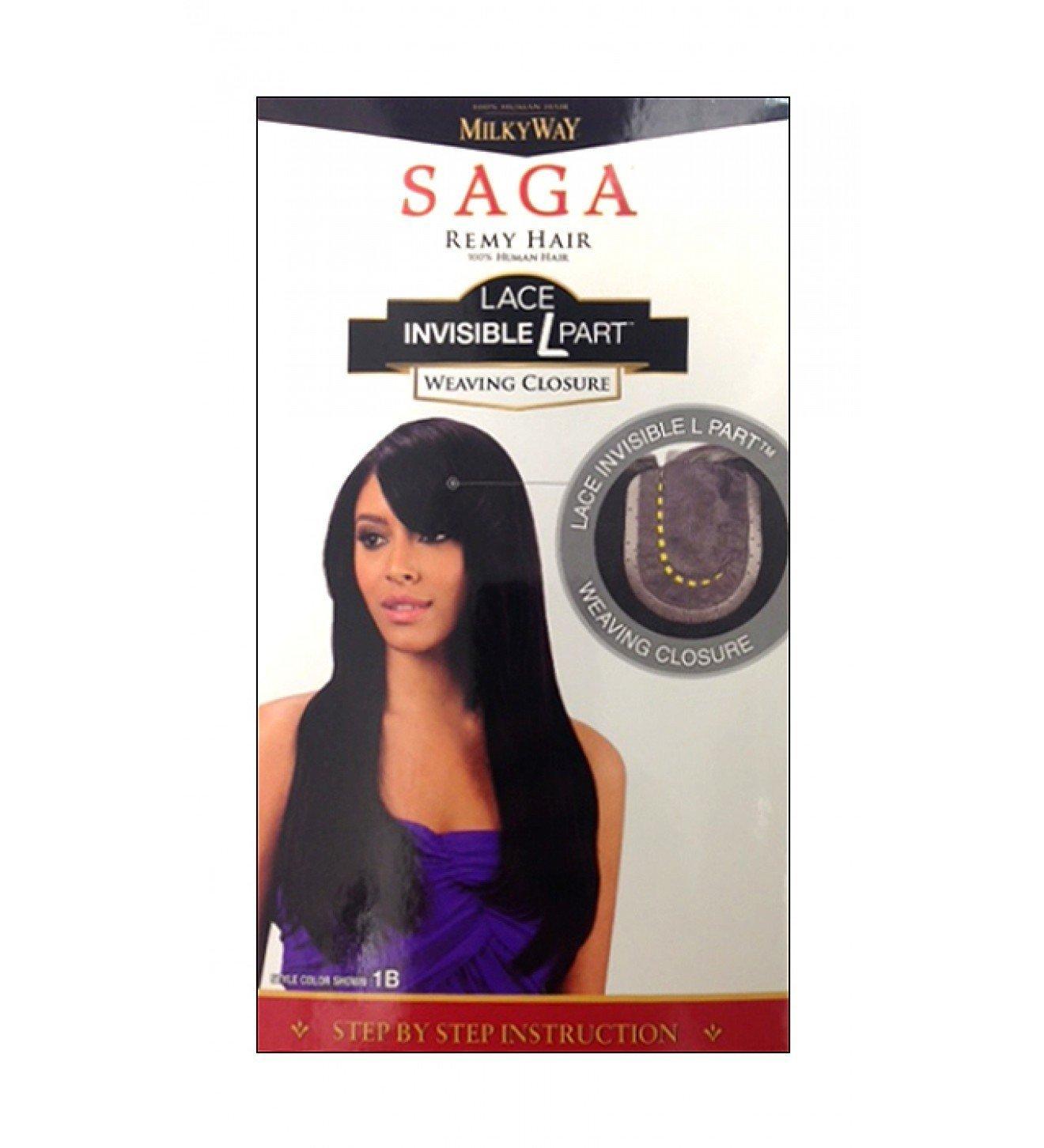 Amazon Saga 100 Human Remy Hair Lace Invisible L Part Weaving
