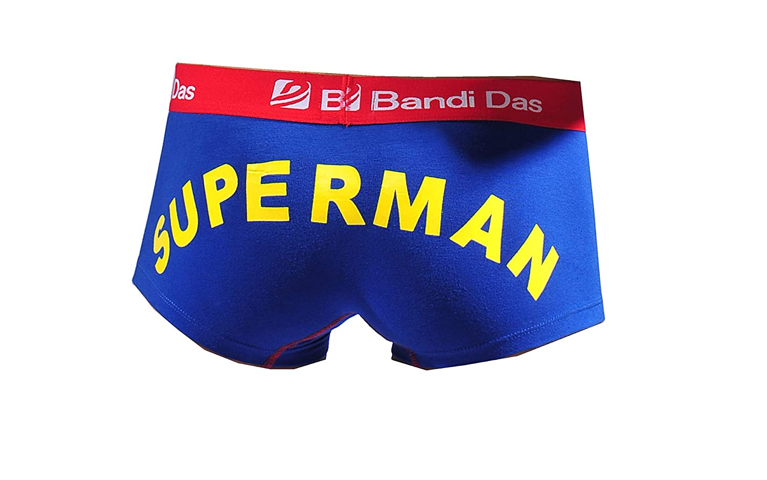 Colorfulworldstore 2 Packs Lycra Cotton Mens Briefs Boxer Underwear with Superman Pattern Printing