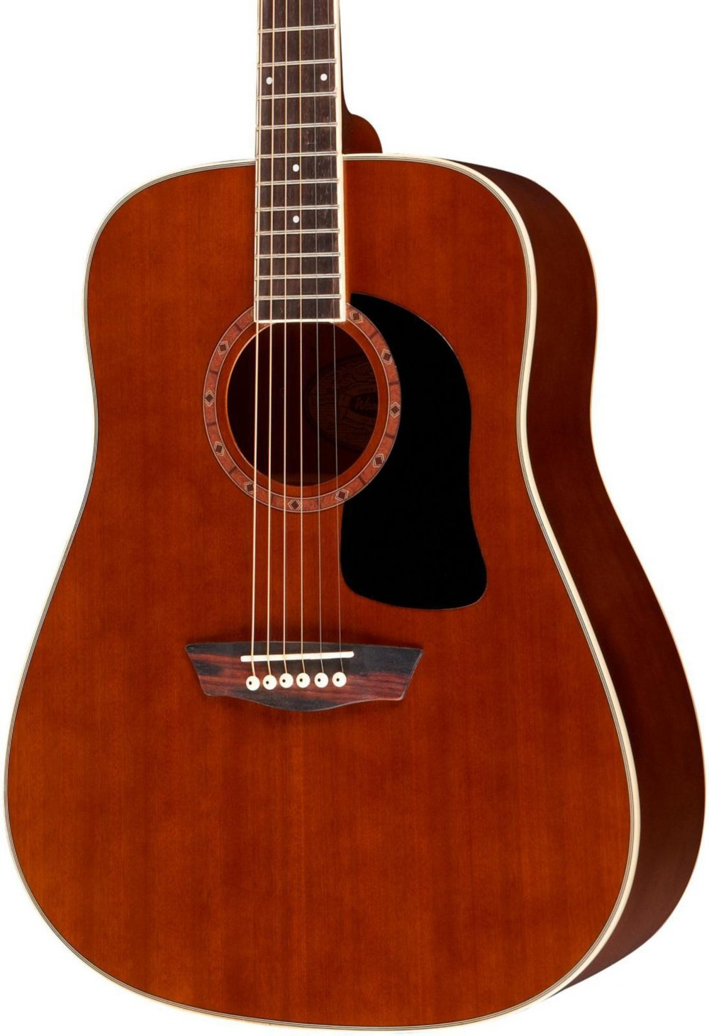 Washburn WD100DL Dreadnought Mahogany Acoustic Guitar Natural by Washburn