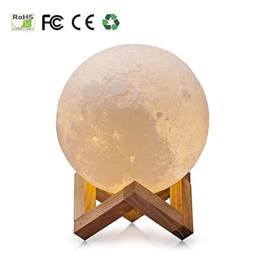 Nice 3D Moon Lamp,USB LED Night Light Magical Lunar Table Lamp Moonlight Gift  Two Tone