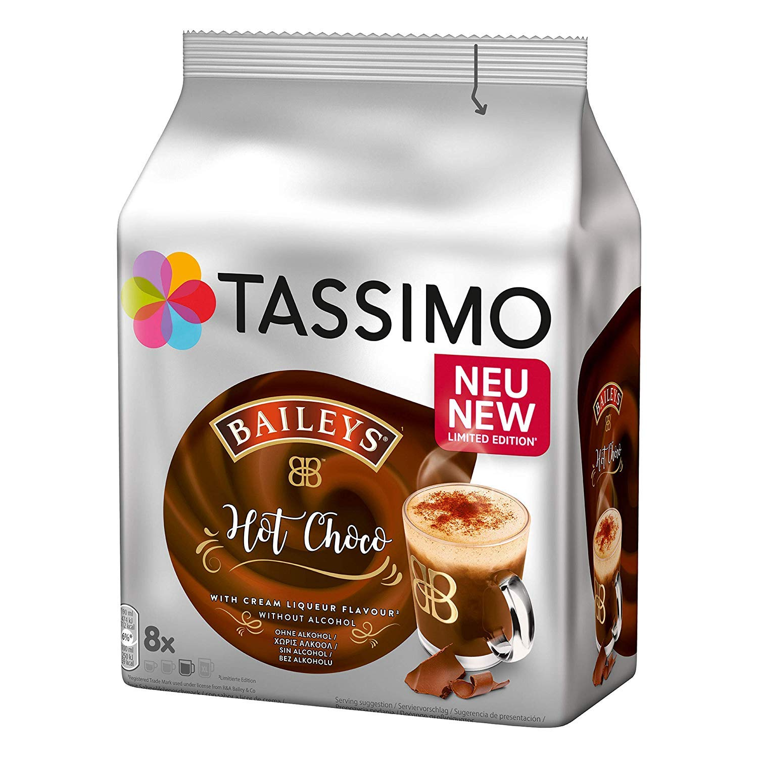 Tassimo Baileys Hot Chocolate Capsules Pods T Discs 5 Pack