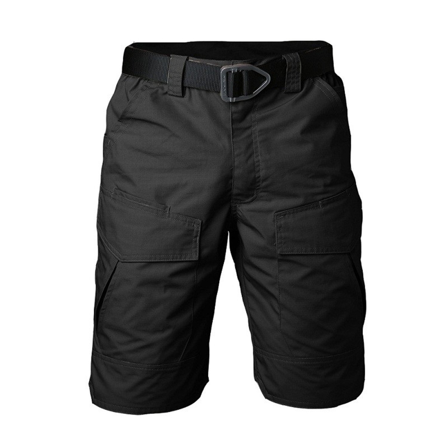 Henraly Summer Militar Waterproof Tactical Cargo Shorts Men Teflon Camouflage Army Military Motion Men Casual Hike Shorts Black XXL