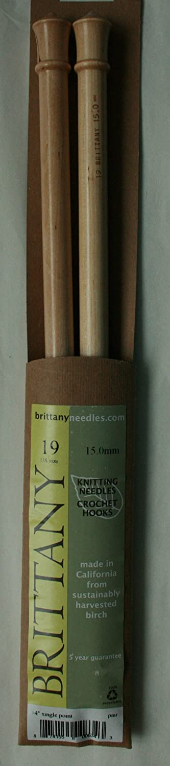 Single Pointed Knitting Needles Brittany Birch 35cm 14in