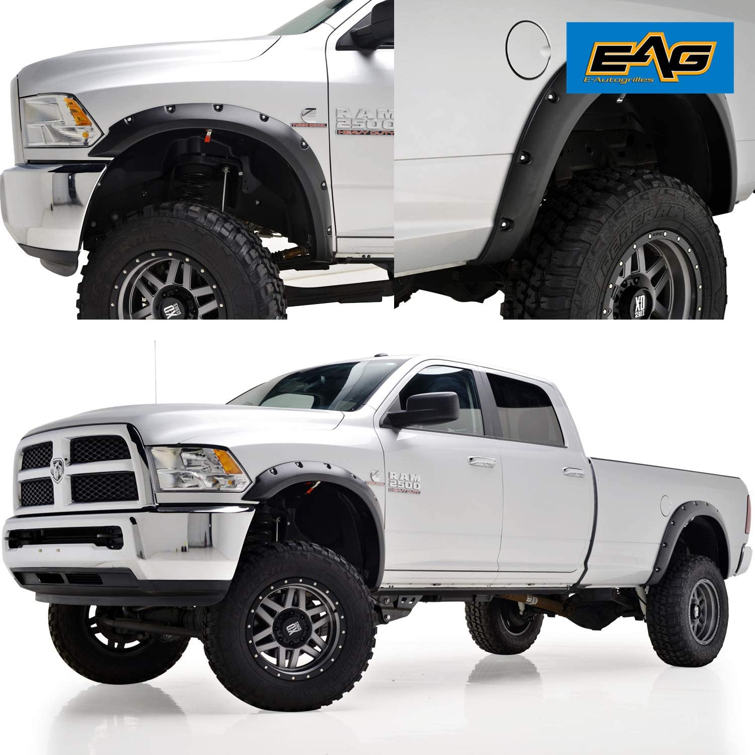 FENDER FLARES  DODGE RAM  2500 3500 2010-2017 MATTE BLACK NEW
