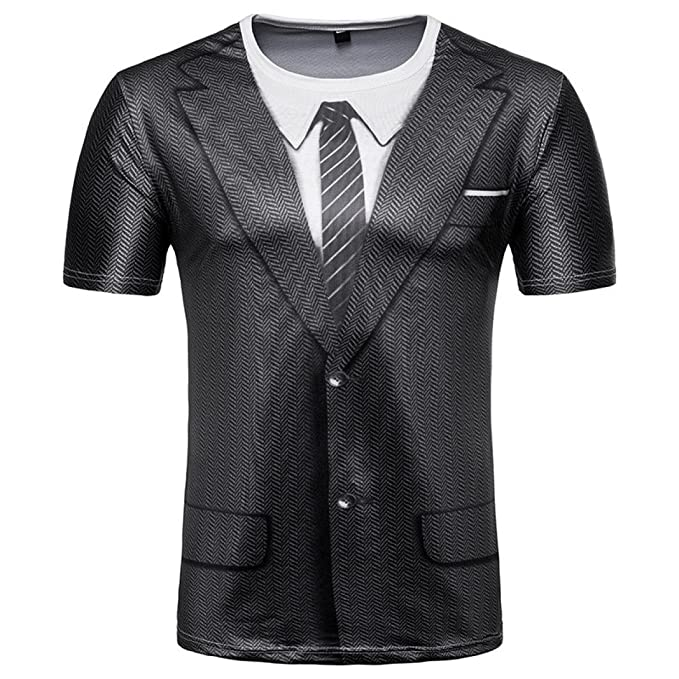 Naturazy-Camiseta Para Hombre De Moda Casual Camiseta Hombres De La Moda Slim Fit 6D