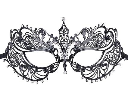 super popolare qualità eccellente Super sconto Maschera Carnevale,Coofit Maschere Veneziane in Stile Veneziano in Metallo,  Princess-Maschera di Halloween per Donna