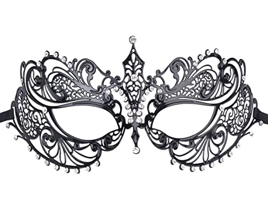 venetian masks coxeer metal masquerade mask women s laser cut