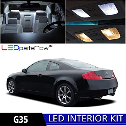 Amazon Ledpartsnow 2003 2007 Infiniti G35 Coupe Led Interior