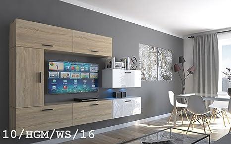 Futura 10 Set mobili da salotto moderno, Mobile a parete TV, insieme ...