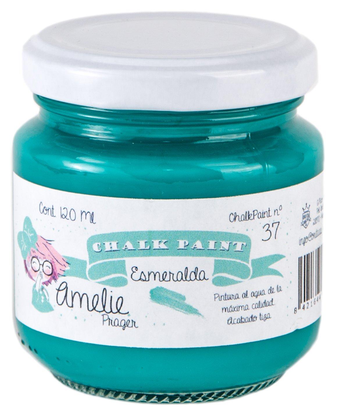 Amelie Prager 120-37 Pintura a la Tiza, Esmeralda, 120 ml