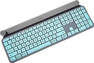 Keyboard Cover Skin for Logitech MX Keys Mac Wireless Keyboard, Logitech Craft Advanced Wireless Illuminated Keyboard, Logitech MX Keys Craft Cover - Mint