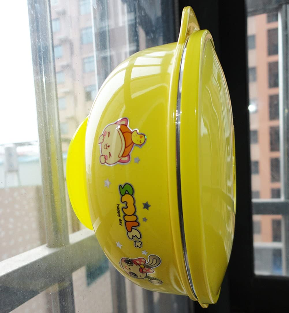 Beby3PS Ventosa de doble cara con ventosa de silicona antideslizante amarillo amarillo