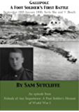Gallipoli: A Foot Soldier's First Battle September 1915-January 1916 Suvla Bay and V Beach: An episode from Nobody Of Any Importance: A Foot Soldier's ... War 1 (Nobody Of Any Importance episodes)