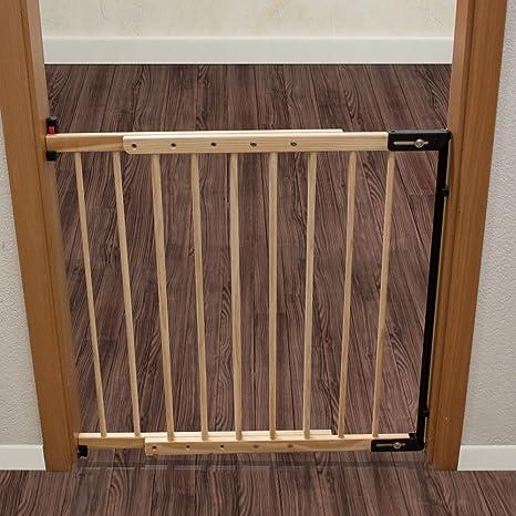 TecTake Puerta Puerta de rejilla rejilla rejilla para escaleras 73 – 118 cm Barrera para animales: Amazon.es: Bebé