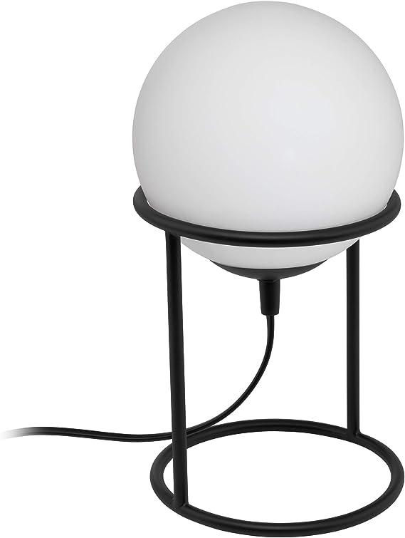 Eglo Castellato 1 Lampada Da Tavolo Altezza 28 Cm In Acciaio 28 W Colore Nero Amazon It Illuminazione