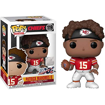 Patrick Mahomes II [Chiefs]: Fun ko Pop! Football Vinyl Figure & 1 Compatible Graphic Protector Bundle (119 - 42867 - B): Toys & Games