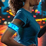 HiGo Rainproof LED Slap Band, Glow in the Dark Sports Armband with Reflecive Printing, Perfect Gifts for Kids, 100% Quality Guarantee