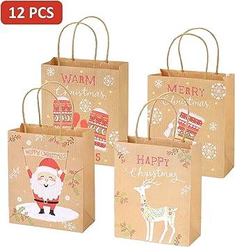 Geschenktüten Geschenktaschen Papiertaschen Papiertüten Weihnachtsmotive Sets