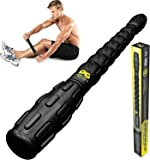Muscle Roller Leg Massager - Best Massage Roller Stick for Athletes - Deep Tissue, Trigger Points, Cramps, Quads, Calf & Hamstring Tightness, Myofascial Release - Reach Places Foam Rollers Can't