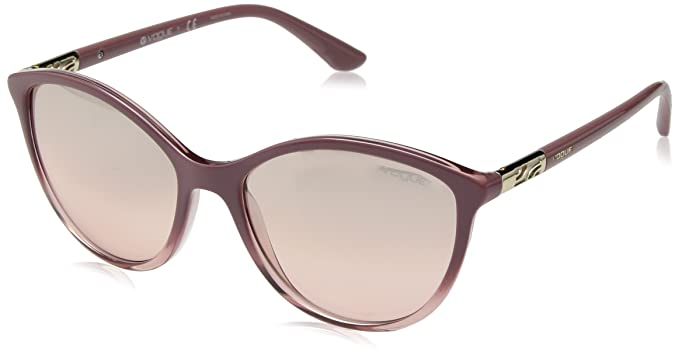 704d8003bf Image Unavailable. Image not available for. Color  VOGUE Women s 0vo5165s  Non-Polarized Iridium Cateye Sunglasses TRANSPARENT PINK ...
