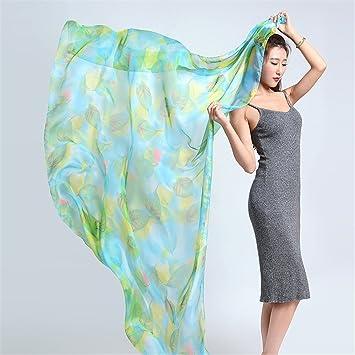 YRXDD Impreso toalla de hilado de chiffon toalla femenina bufanda de mantón del aire acondicionado de