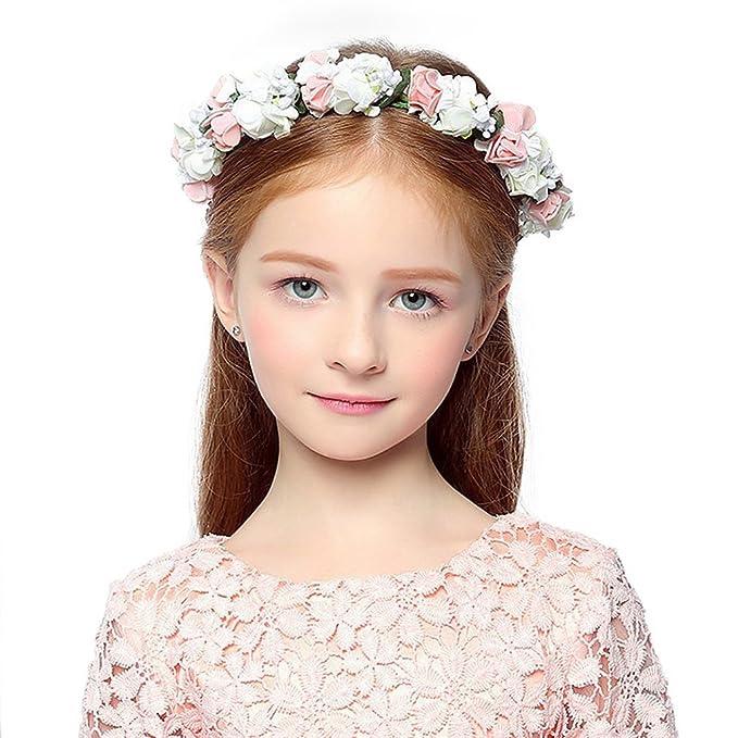 Cereoth Flower Wreath Floral Crown Garland Headband For Wedding