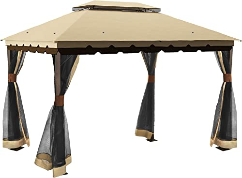 YITAHOME Outdoor Double Roof Canopy Gazebo