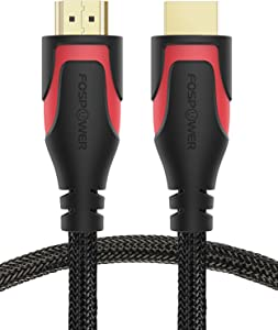 HDMI Cable - 1FT, FosPower 4K Latest Standard 2.0 HDMI Ready [Nylon Braided Cord] - Ultra High Speed 18Gbps - Supports 4K 2160p HDR UHD 3D HDR 1080p Ultra HD (24K Gold Plated Connector)
