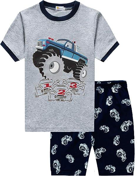 Little Hand Toddler Boys Pajamas Train 100/% Cotton Fire Truck Pajama Boy Airplane 2 Piece Pjs Sets Clothes 1-7 T