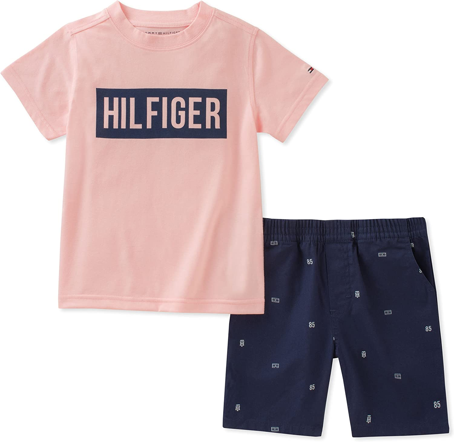 Tommy Hilfiger Boys Toddler 2 Pieces Muscle Top Shorts Set